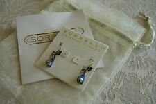 Sorrelli Viridescence Swarovski Green Crystal Teardrop French Wire Earrings