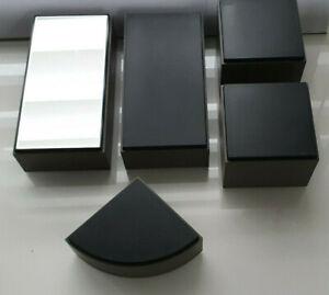 Swarovski 5 Graue Sockel Displays Aufsteller Deko 1 x mit Spiegel