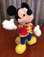 """Disney Mickey Mouse Posable Band Leader 13"""" Plush Toy Stuffed Animal Toy"""