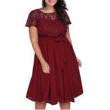 2018 New Plus Size Women evening Dress Formal Prom High Waist Bridesmaid #37
