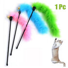 1Pc New Cat Pet Teaser Feather Interactive Fun Stick Toy Wire Chaser Wand