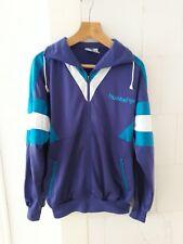 Vintage HUMMEL Tracksuit top Jacket mens size medium zip purple green retro