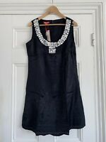 Monsoon Black Kaftan Dress Top Embellished size UK 16 RRP £55 New With tags
