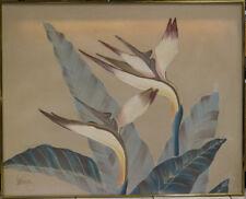 "FLORAL ART WORK ORCHIDS OIL PAINTING LEE REYNOLDS VANGUARD STUDIOS 40"" X 50"""