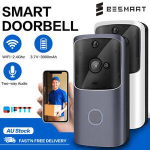 Wireless WiFi Video Smart Doorbell Phone Door Ring Intercom Camera Security Bell
