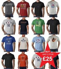 Cotton Blend Baseball Fitted T-Shirts for Men