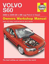 HAYNES MANUAL VOLVO S60 2000-2008 X TO 58 REGISTRATION PETROL AND DIESEL