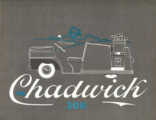 1960 Chadwick 300 Golf Cart Sales  Brochure -BMW Isetta Engine/Chassis
