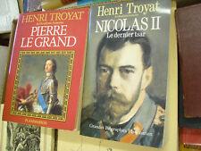 Lot 2 livres Henri Troyat éditions Flammarion