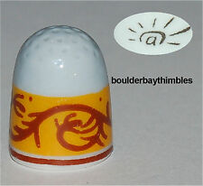 Fèves Porcelain HAND PAINTED Thimble DOME SHAPED  NEW FRANCE