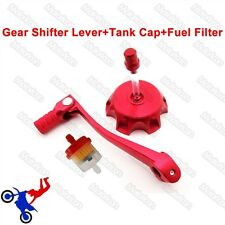 Red Gear Shifter Lever Fuel Tank Cap Cover For Pit Dirt Bike DHZ Stomp Thumpster
