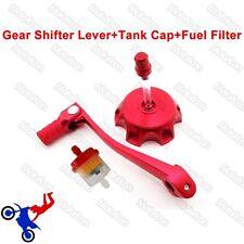 Red Gear Shifter Lever serbatoio tappo di copertura per Pit Dirt Bike DHZ Stomp thumpster