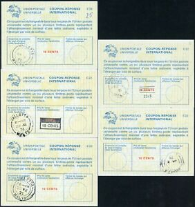 MALTA REPLY PAID COUPONS IRCs 1975-81 incl.REVALUED.. 5 Items