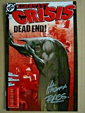 2005 DC COMICS IDENTITY CRISIS #6 SECOND PRINT RED COVER SIGNED BY RAGS MORALES