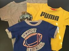 Lot With 3 Toddler Boys T-Shirts Size 3T Puma Thoughskins Paul Frank
