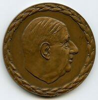 FRANCE 1890 - 1970 BRONZE MEDAL GENERAL CHARLES DE GAULLE 63MM 119GR