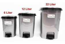 Pedal Dustbin Trash Can For Toilet Kitchen Living Room, 22/12/6 Liter