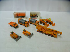 Wiking 1:87 Konvolut 10 verschiedene Baufahrzeugen Kranwagen orange