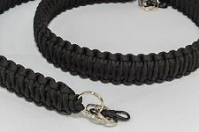 "Paracord camera neck strap black (approx: 40"")"