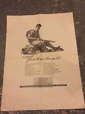 WWII Poster Soldier Model Actor RAKOCY 1940s Bullock's