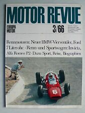 Zeitschrift Motor Revue Heft 59 3/1966 mit Ford 7 Liter, Invicta,Alfa P2 GP, BMW