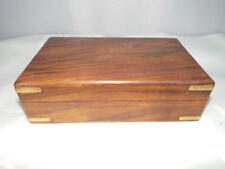 Wooden Keepsake Jewellery Box With Brass edges