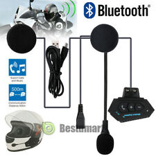 500m BT Bluetooth Motorcycle FM Radio Headset Helmet Interphone Intercom Headset