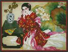 Counted Cross Stitch ORIENTAL LADY SCENE - COMPLETE KIT - No.25-101 KIT