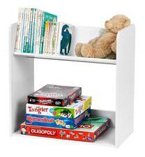 New 2 Shelf Bookcase Small Wood Bookshelf Storage Shelving Organizer Kids White