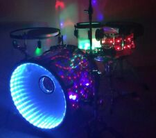 Custom Built Drum Set - Electric/Acoustic Kit w/Internal Lightshow! WATCH VIDEO!