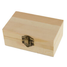 Blank Rectangle Mini Wooden Box Jewelry Box Case for Painting Craft Decorate