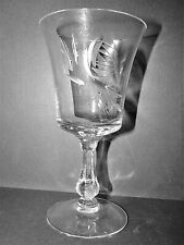 Fostoria 6097-1 Claret Wine Glass Rose Cut Crystal Vintage Discontinued