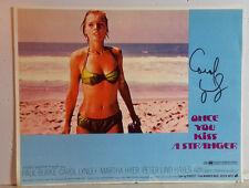 Movie Autograph 11x14 Lobby Card signed by Carol Linley (LHAU-B-39)