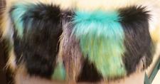 Bordo eco pelliccia multicolor tiffany nero compatibile O bag Classic-mini-chic