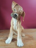 LOVELY BOXER VINTAGE FIGURINE BY RONZAN ITALY PATTERN 802 B