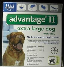 Bayer Advantage II Extra Large Dog Over 55 lbs 4 Pk EPA APPROVE !!! 100% GENUINE