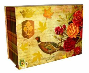 Ashland Rectangle Flip Top Nesting Box Autumn Pheasant 518416 Medium