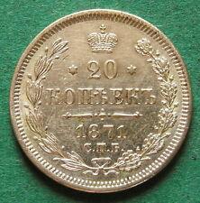 Russland 20 Kopeken 1871 toll erhalten nswleipzig