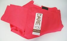 Celebrity Pink Trendy Plus Size Colored Wash Skinny Jeans Coral Sz 24-NWT