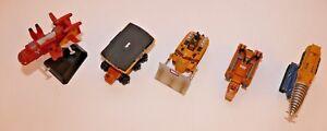 Thunderbirds Konami Vol.1&2. Thunderbird Models set of 5 Pod Vehicles Candy Toys