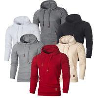 Autumn Men's Hoodie Warm Hooded Sweatshirt Coat Jacket Outwear Jumper Sweater