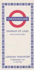 LONDON UNDERGROUND TUBE MAP 1969 (REF 768)