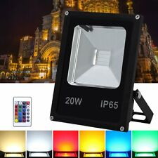 LED Fluter DImmbar RGB 50W 230V Außen Farbwechsel Gartenlampe Fassadenstrahler