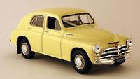 GAZ-M20 Pobeda USSR Soviet Executive Car Yellow Color 1:43 Scale Diecast Model
