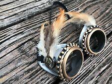 Steampunk goggles cyber man club Rave DJ dance costume biker novelty Punk Gift