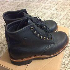 """NEW,CHIPPEWA 20028 Black Odessa Rugged 6"""" tall classic boots"""
