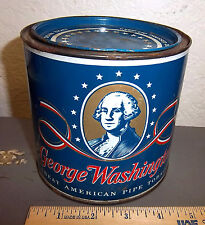 vintage George Washington tobacco tin,  great colors & graphics, 5 x 5 inches