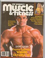Muscle & Fitness Bodybuilder Magazine Franco Columbu 2-82 In VGC Last One!