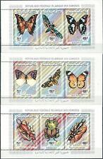 Komoren - Insekten 3x Kleinbogen postfrisch 1994 Mi. 1034-1042