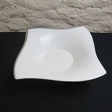 grand saladier en porcelaine villeroy et boch NEW WAVE platinium 28 cm